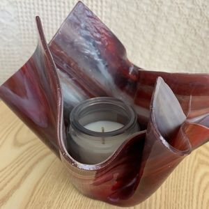 Abstract candle holder